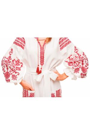 Сукня «Вишневий сад» білого кольору