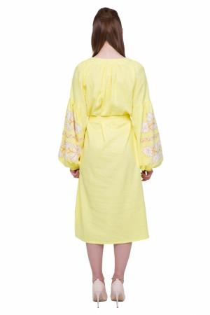Платье «Невесточка» желтого цвета