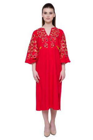 Платье «Находка» красного цвета