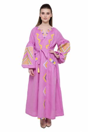 Платье «Вырий» розового цвета