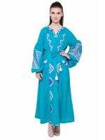 Платье «Вырий» бирюзового цвета
