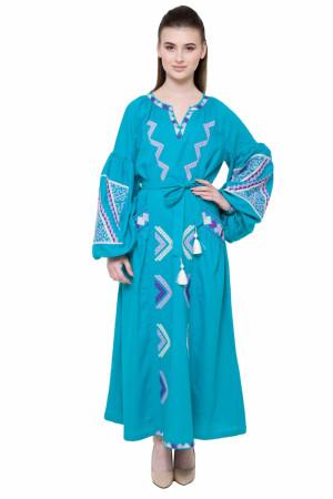 Сукня «Вирій» бірюзового кольору