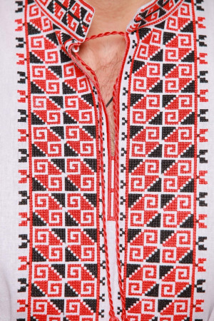 Вишиванка «Дві стихії» з червоно-чорним орнаментом