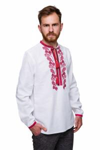 Вишиванка «Грім» з бордовим орнаментом