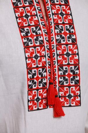 Вышиванка «Оберег» с красно-черным орнаментом