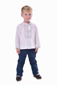 Вишиванка для хлопчика «Грім» зі сріблястим орнаментом