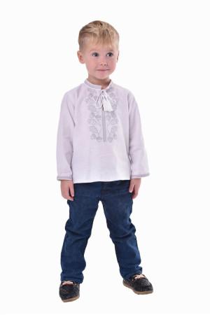 Вышиванка для мальчика «Гром» с серебристым орнаментом