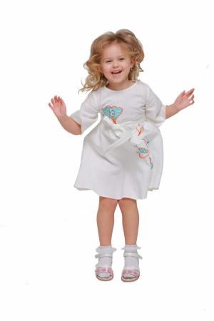 Сукня для дівчинки «Первоцвіт» білого кольору