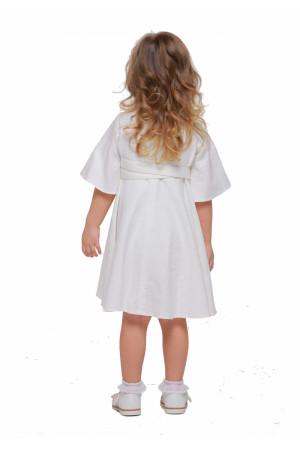 Платье для девочки «Первоцвет» белого цвета