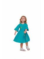 Сукня для дівчинки «Первоцвіт» бірюзового кольору
