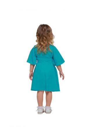 Платье для девочки «Первоцвет» бирюзового цвета