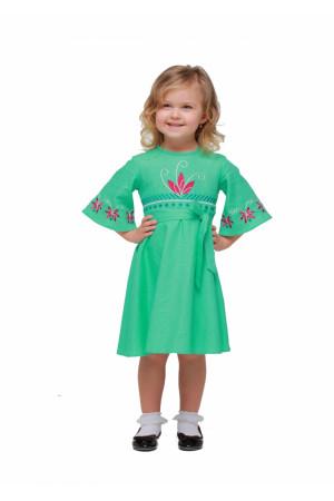 Платье для девочки «Сияние» цвета мяты
