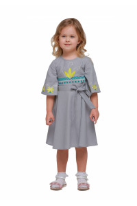 Платье для девочки «Сияние» серого цвета