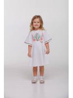 Платье для девочки «Пробуждение» белого цвета