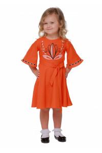 Платье для девочки «Пробуждение» оранжевого цвета
