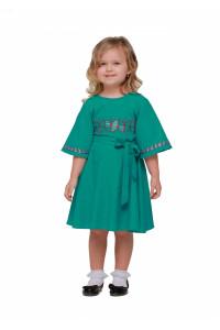 Платье для девочки «Веснянка» цвета морской волны