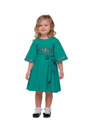 Сукня для дівчинки «Веснянка» кольору морської хвилі