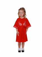 Сукня для дівчинки «Веснянка» червоного кольору