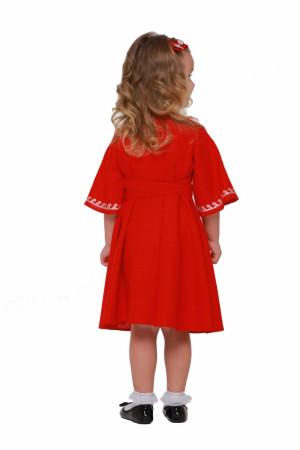 Платье для девочки «Веснянка» красного цвета