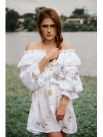 Платье «Дыхание» белого цвета