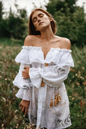 Сукня «Подих» білого кольору