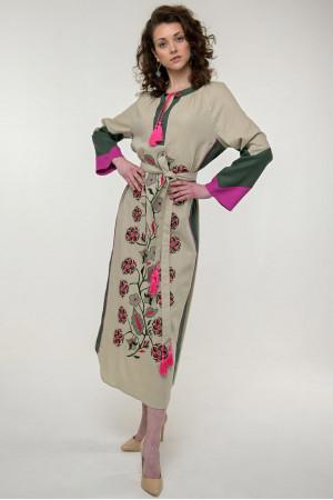 Сукня «Луга» бежевого кольору