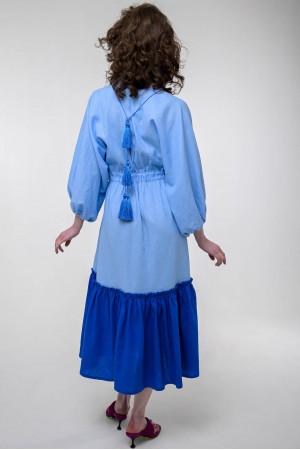 Сукня «Журавка» блакитного кольору