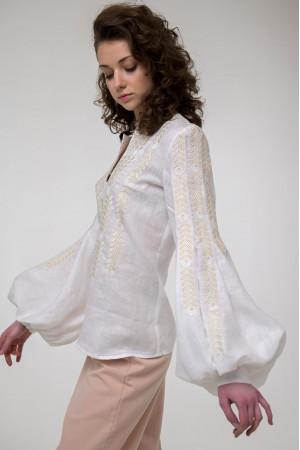 Вышиванка  «Струмивка» белого цвета