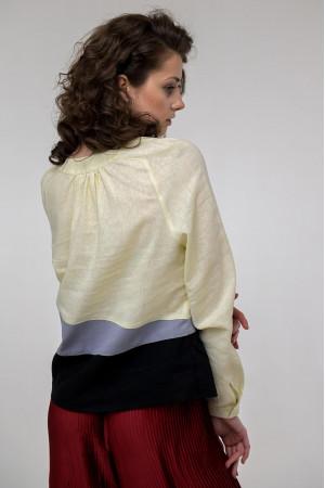 Вышиванка  «Камянка» светло-желтого цвета