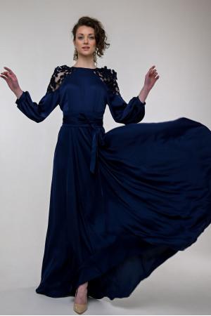 Платье «Невеста» темно-синего цвета