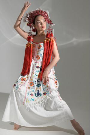 Платье «Турия» белого цвета