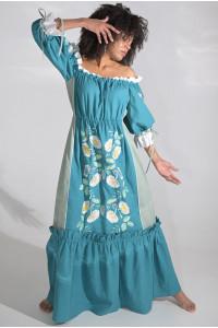 Сукня «Бережанка» кольору морської хвилі