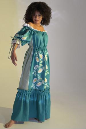 Платье «Бережанка» цвета морской волны