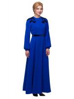 Платье «Цвет ириса» синего цвета