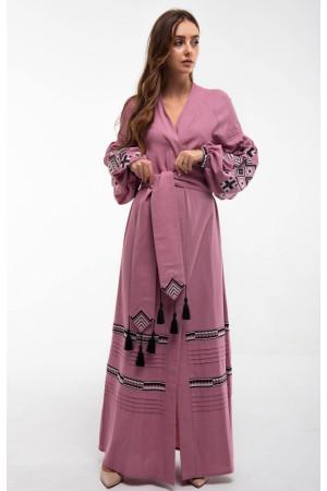 Платье «Ромбы Косач» цвета пудры