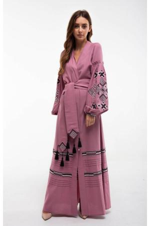 Сукня «Ромби Косач» кольору пудри