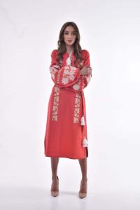 Платье «Невесточка» цвета марсала