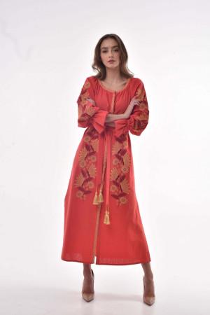 Платье «Муза» цвета марсала
