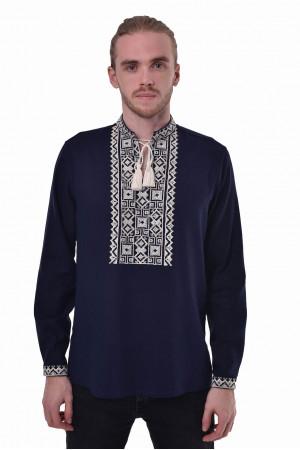 Вышиванка «Подолье» темно-синего цвета