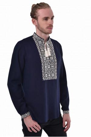 Вишиванка «Поділля» темно-синього кольору