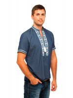 Вишиванка «Колодки» кольору джинс КР