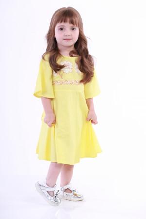 Сукня для дівчинки «Невісточка» жовтого кольору