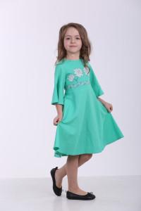 Платье для девочки «Невесточка» мятного цвета