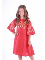Сукня для дівчинки «Знахідка» червоного кольору