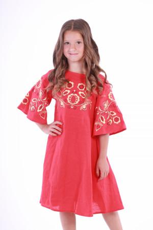 Платье для девочки «Находка» красного цвета