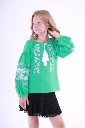 Вишиванка для дівчинки «Невісточка» м'ятного кольору