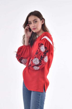 Вишиванка «Дика ружа» червоного кольору