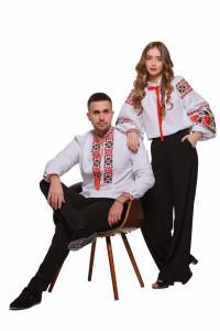 Комплект парних вишиванок для чоловіка та жінки «Квіти зорі»