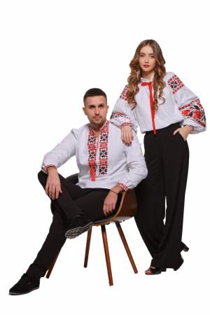 Комплект парных вышиванок для мужчины и женщины «Цветы зари»
