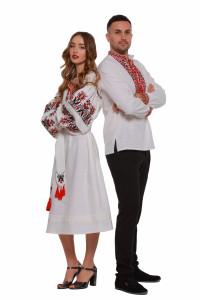 Вышитый комплект для мужчины и женщины «Оберег»